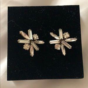 Jcrew crystal stud earrings